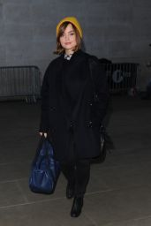 Jenna-Louise Coleman - BBC Radio 1 studio in London - Dec. 2014