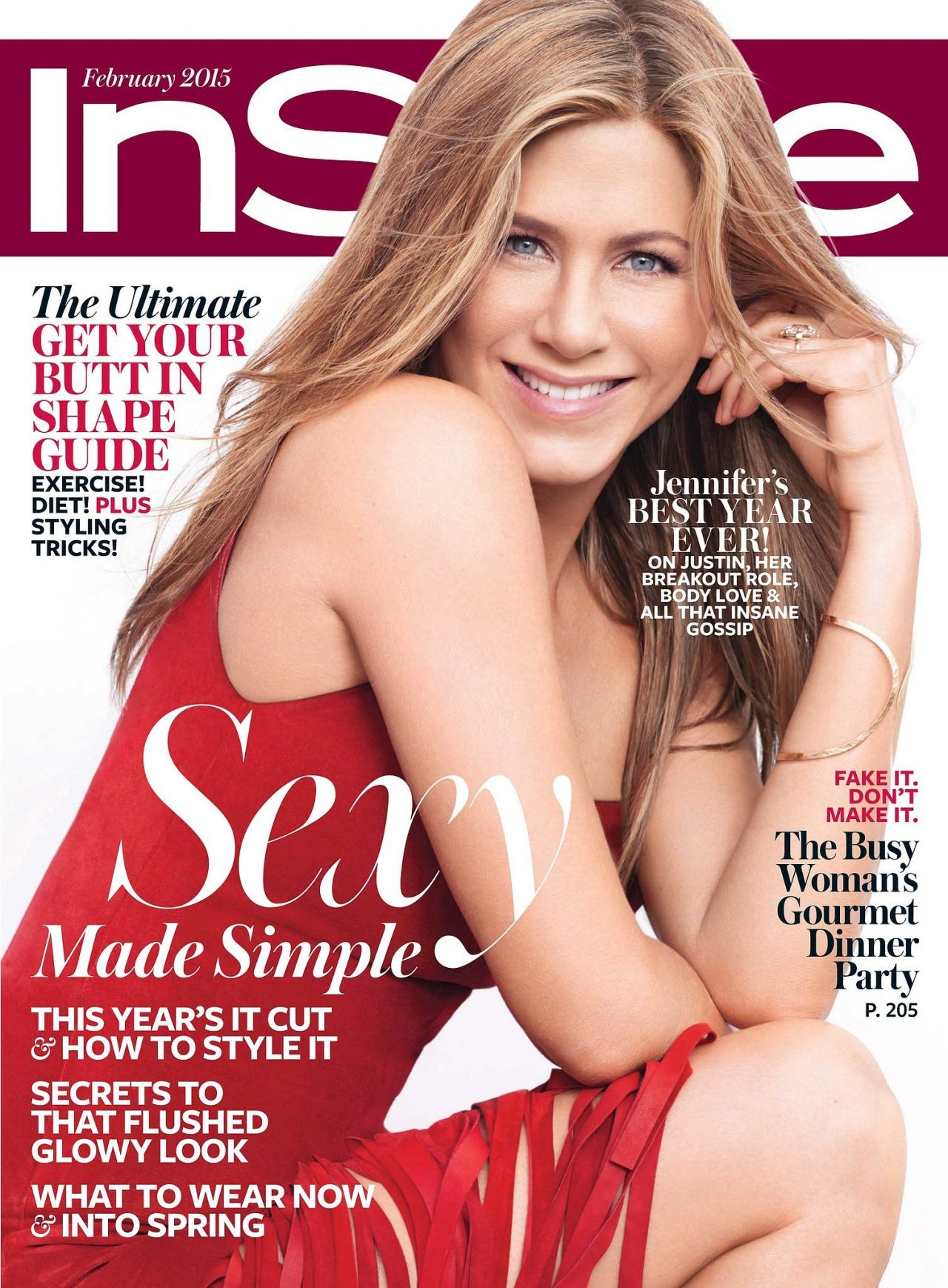 Jennifer Aniston - InStyle Magazine Cover - February 2015