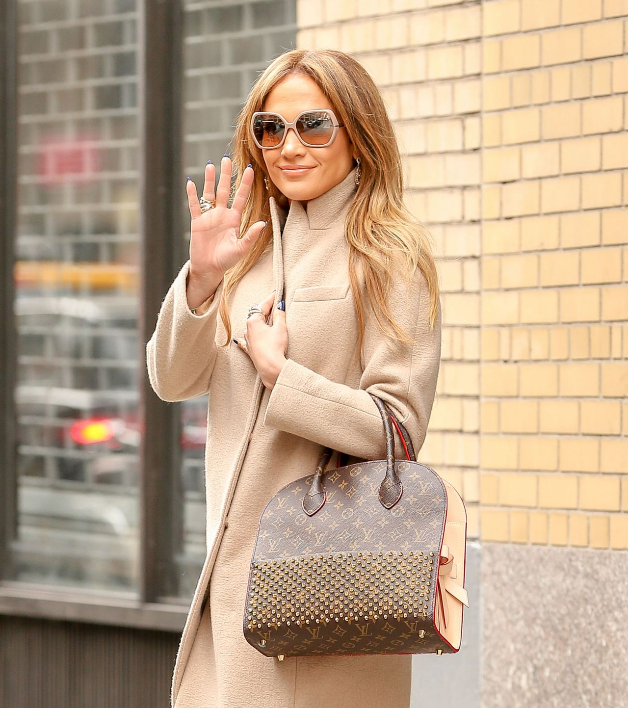 Jennifer Lopez is Stylish - Leaving an Office Building in New York City, January 2015