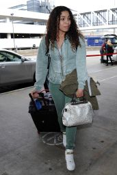 Jordin Sparks - at LAX Airport in Los Angeles, Jan. 2015