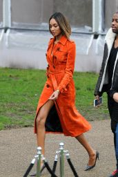 Jourdan Dunn - Burberry Prorsum Fashion Show in London - January 2015