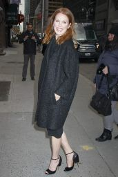 Julianne Moore Making an Appearance at the Ed Sullivan Theater, January 2015