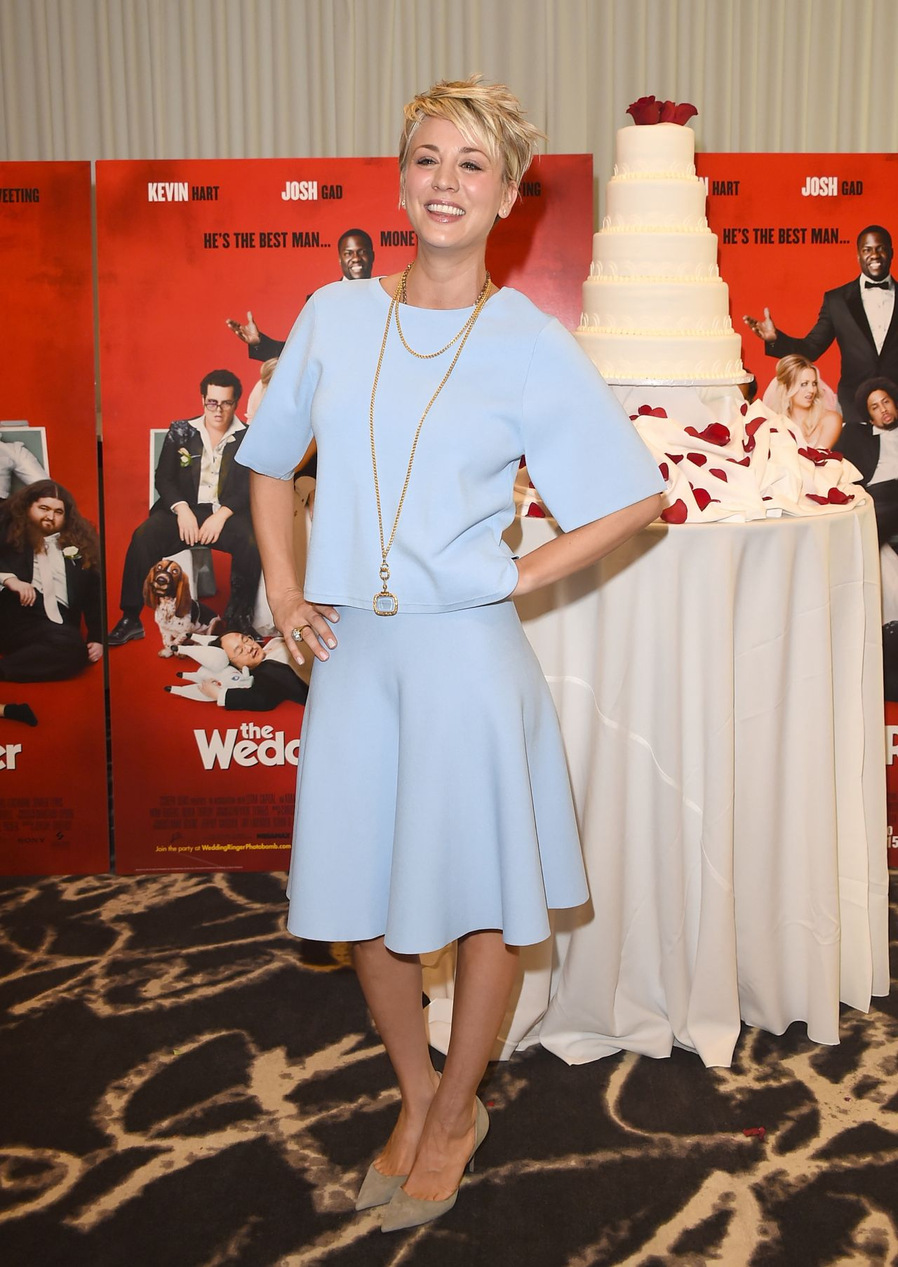 Kaley Cuoco - 'The Wedding Ringer' Photocall in Los Angeles