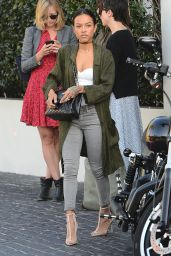Karrueche Tran Style - Has Lunch at Cecconis in Los Angeles, Jan. 2015