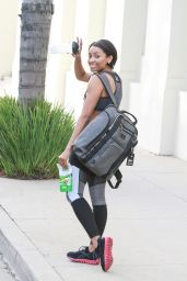 Kat Graham Gym Style - Leaves the Gym in Los Angeles, January 2015