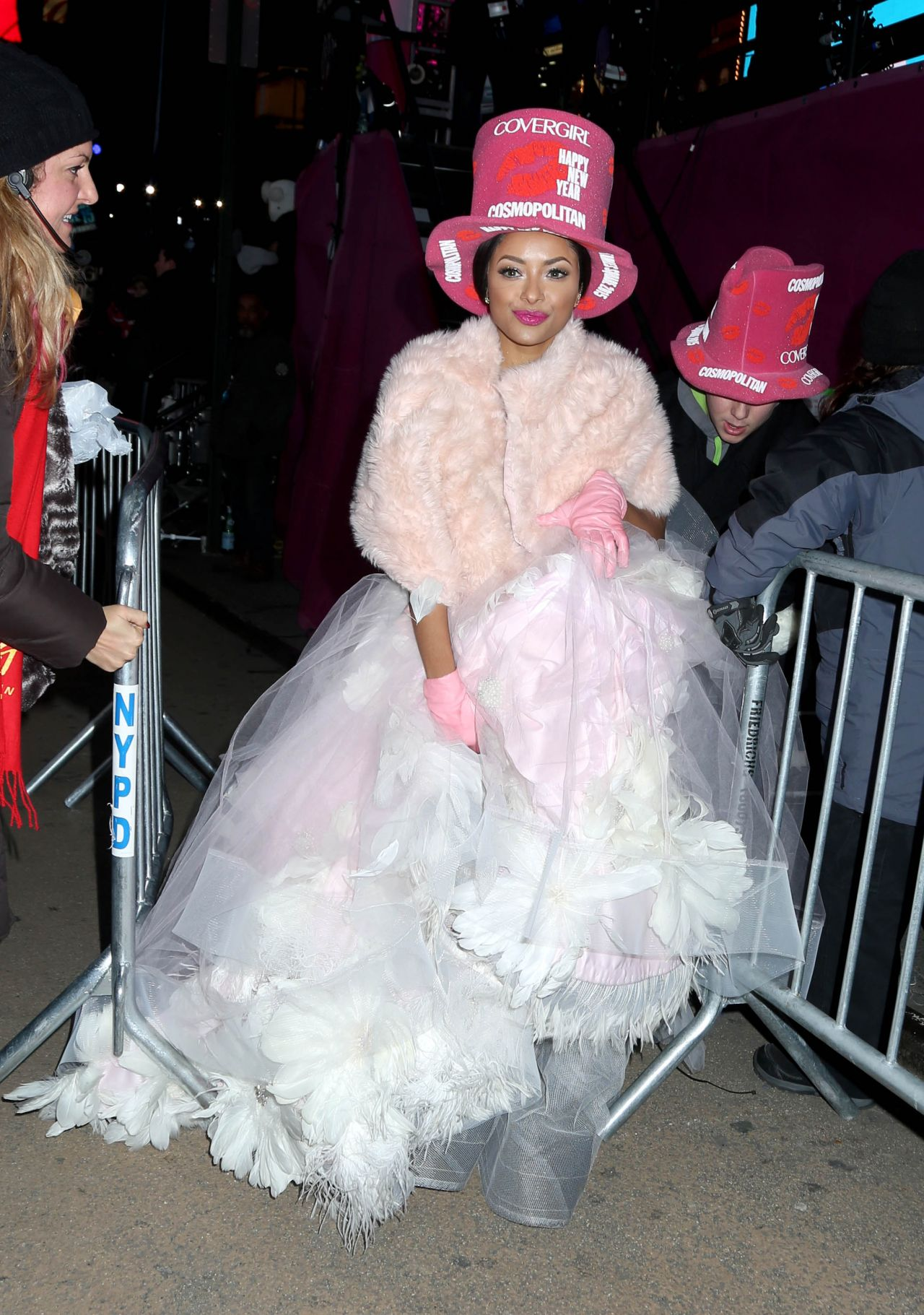 Kat Graham - New Year Eve 2015 at Times Square with Cosmopolitan in NYC
