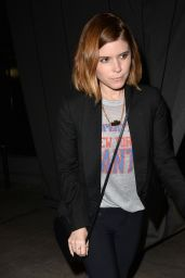 Kate Mara - Leaves Craigs Restaurant, January 2015