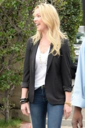 Katherine Heigl - On the set of
