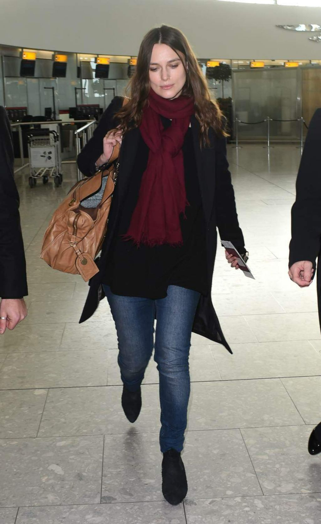 Keira Knightley Casual Style Departs Heathrow Airport And Arrives At