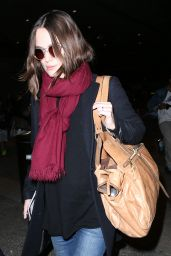 Keira Knightley Casual Style - Departs Heathrow Airport and Arrives at LAX Airport, Jan. 2015