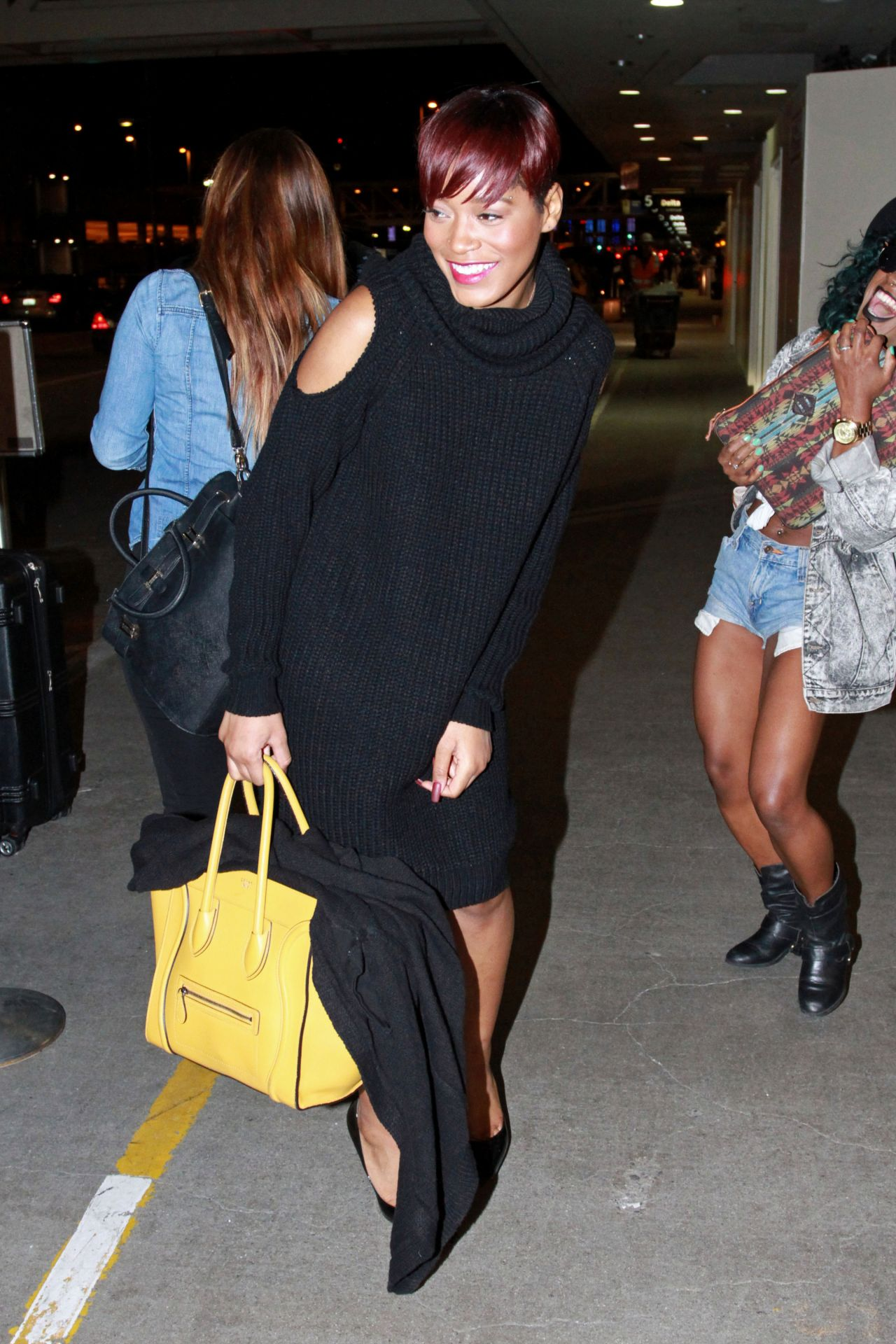 Keke Palmer - at LAX Airport, January 2015