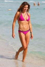 Kelly Bensimon in a Pink Bikini in South Beach, January 2015