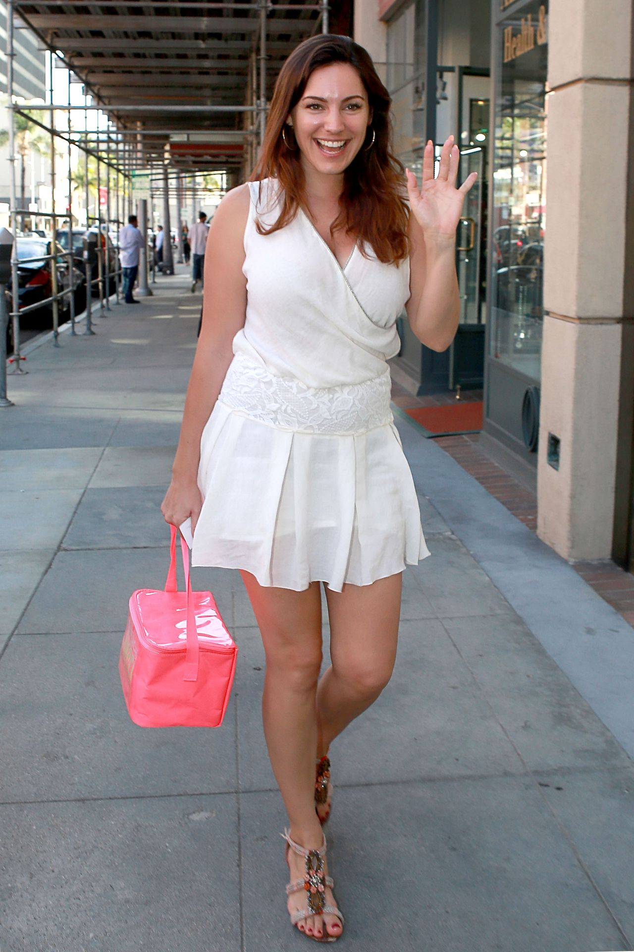 Kelly Brook in Mini Dress  - Out in Beverly Hills, January 2015