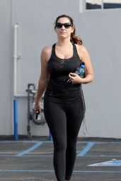 Kelly Brook - Leaving the Gym in Los Angeles - January 2015