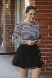 Kelly Brook Leggy in Mini Skirt - Out in Beverly Hills, January 2015