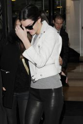 Kendall Jenner in Tight Leather Pants - Out in Paris, January 2015