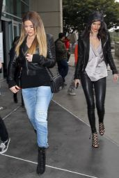 Kendall Jenner & Khloe Kardashian - Leaving the Staples Center in Los Angeles, January 2015
