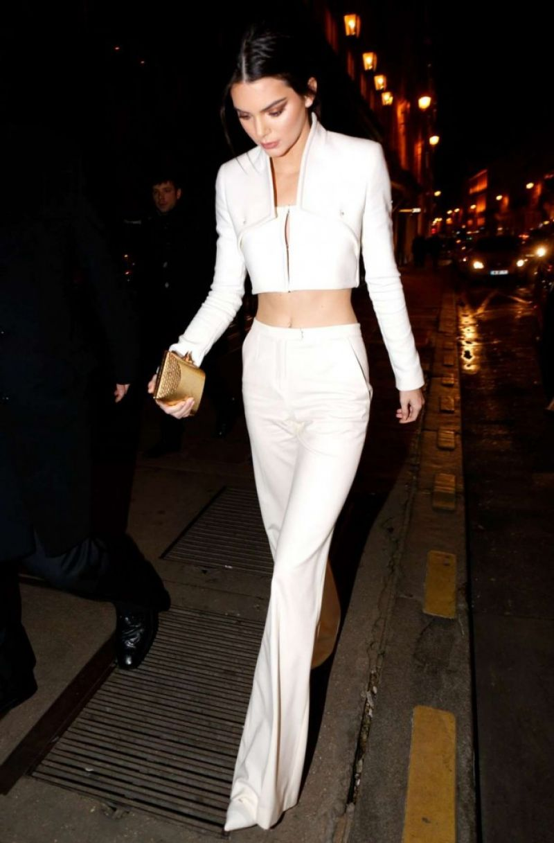 Kendall Jenner Night Out Style Paris January 2015