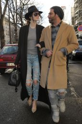 Kendall Jenner Street Style - Out in Paris, January 2015