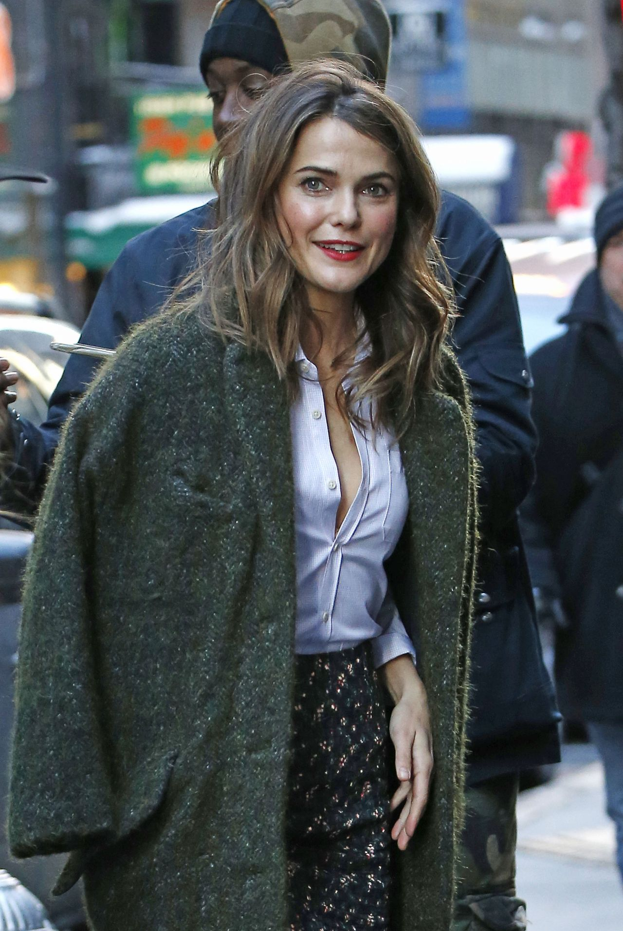 Keri Russell Arriving the