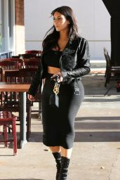 Kim Kardashian - at Blu Jam Cafe in Los Angeles, January 2015