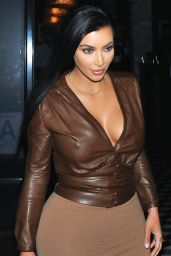 Kim Kardashian Style - Leaves Dinner at Craigs Los Angeles, January 2015
