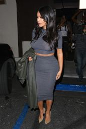 Kim Kardashian Style - Out for Sushi in Encino, January 2015