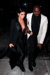 Kim Kardashian Style - Out To Dinner in NYC - January 2015