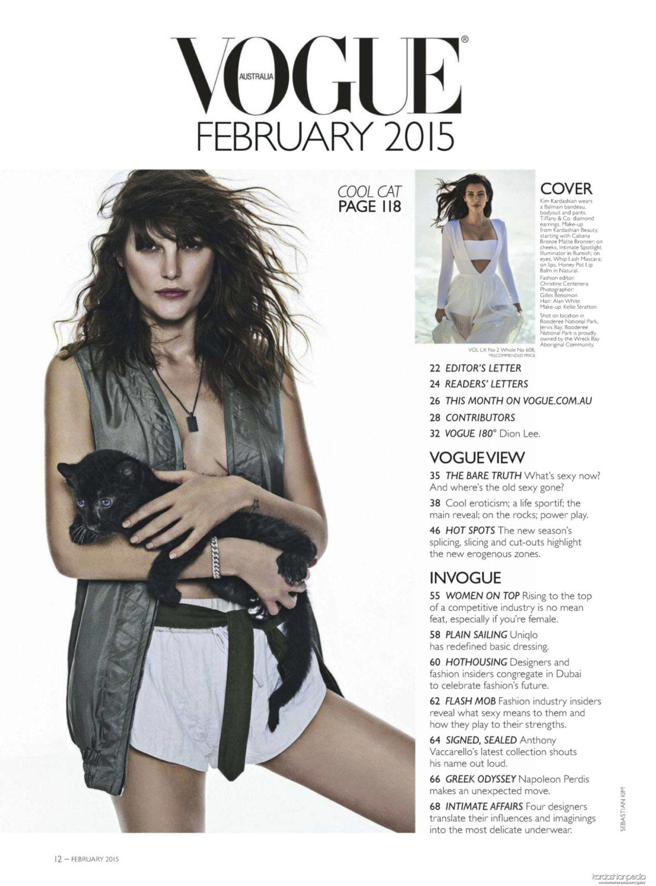 Vogue Magazine (Australia) February 2015