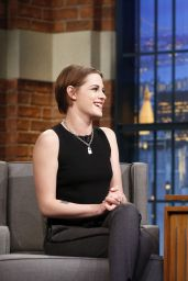 Kristen Stewart Appeared on Late Night with Seth Meyers - January 2015