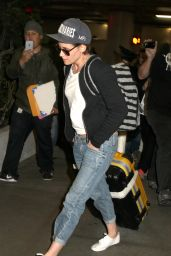 Kristen Stewart - at LAX Airport, January 2015