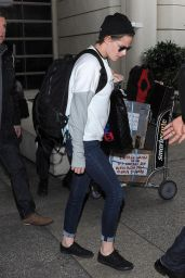 Kristen Stewart Casual Style - LAX Airport, January 2015