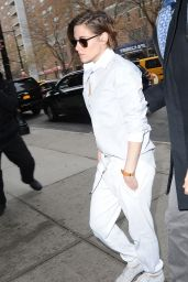 Kristen Stewart is Stylish - On her way to the Today Show in New York City - January 2015