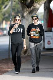 Kristen Stewart - Out With Alicia in Los Angeles, Jan. 2015