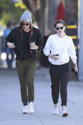 Kristen Stewart Street Style - Grabbing Her Morning Coffee with Alicia in Los Feliz - Jan. 2015