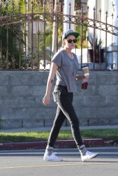 Kristen Stewart Street Style - Out in LA - January 2015