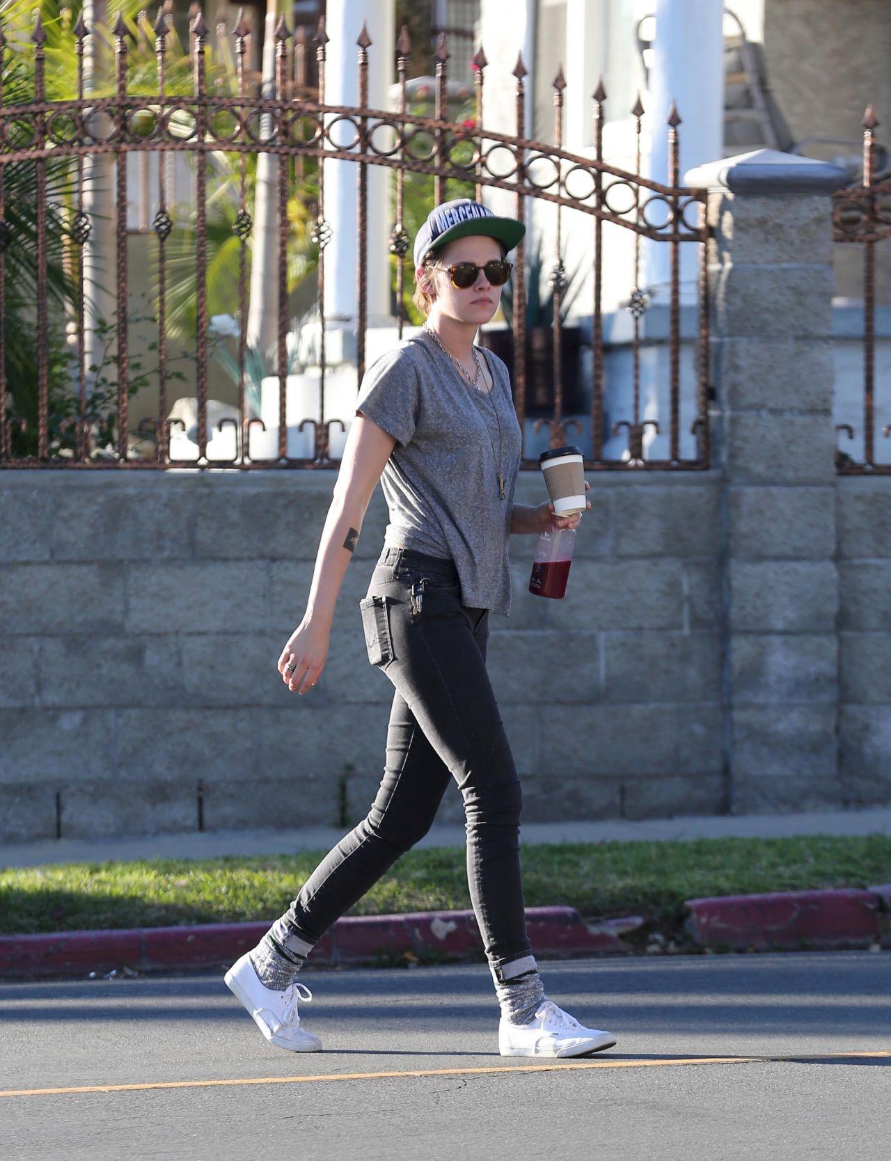 Kristen Stewart 2015 Celebrity Photos Street Style Out In La January