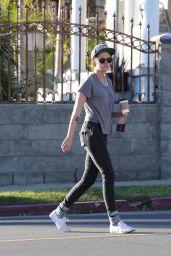 Kristen Stewart Street Style - Out in LA - January 2015