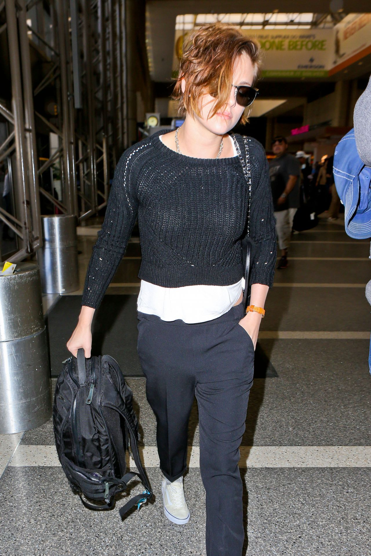 Kristen Stewart Style At Lax Airport January 2015