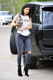 Kylie Jenner is Stylish, Out in Malibu, January 2015