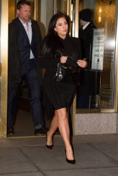 Lady Gaga Looking Natural - Heading to a Business Meeting in New York City, Jan. 2015