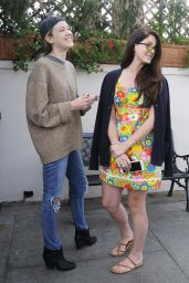 Lana Del Rey Meets Her Sister Caroline Grant for Lunch at Il Pastaio in Beverly Hills, January 2015