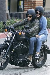 Lana Del Rey - Out for a Motorcycle ride in Malibu, January 2015