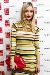 Laura Whitmore Style - Pandora and BHF Afternoon Tea in London - January 2015