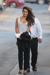 Lea Michele - Arriving at Jimmy Kimmel Live in Los Angeles, January 2015