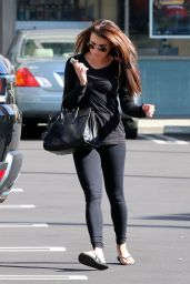 Lea Michele Booty in Tights - Out in Hollywood, January 2015