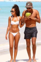 Leigh-Anne Pinnock in White Bikini in Barbados - January 2015