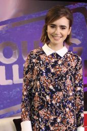 Lily Collins Appeared on Young Hollywood Show, January 2015