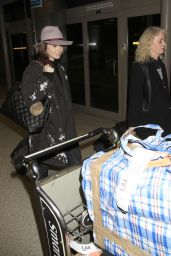 Lily Collins at LAX Airport, January 2015
