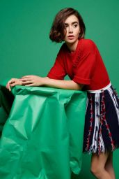 Lily Collins - Barrie Knitwear Collection Spring Summer 2015